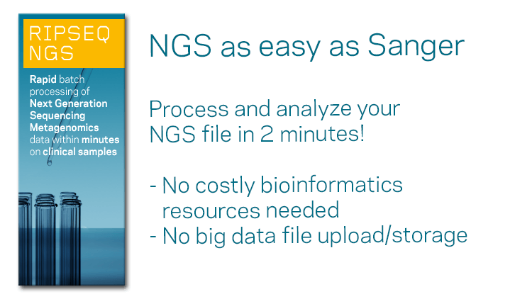 Pathogenomix Ripseq - Bacterial Identification using DNA sequence analysis - Sanger and NGS
